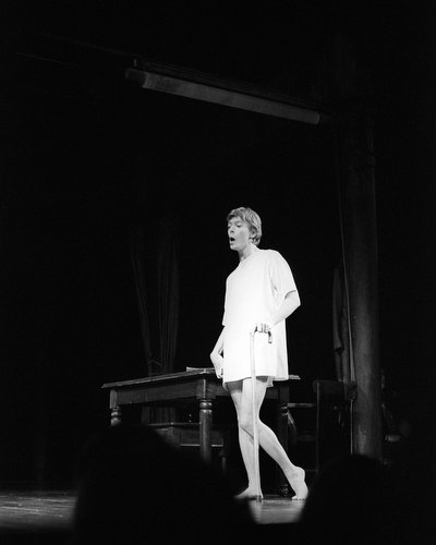 David Bowie in 'The Elephant Man', The Booth Theatre, New York, 1980