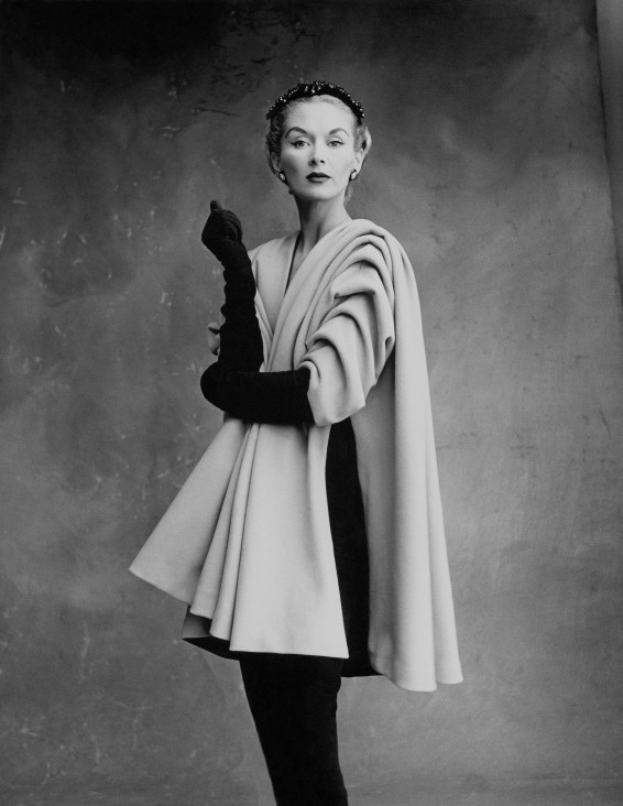 Lisa Fonssagrives-Penn wearing coat by Cristóbal Balenciaga, Paris, 1950. Photograph by Irving Penn © Condé Nast, Irving Penn Foundation.jpg