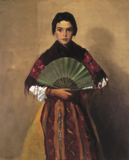 robert-henri-the-green-fan-girl-of-toledo-spain