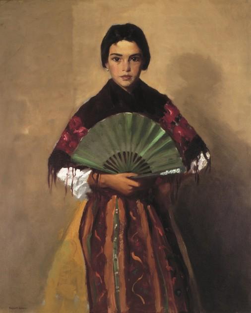 robert-henri-the-green-fan-girl-of-toledo-spain