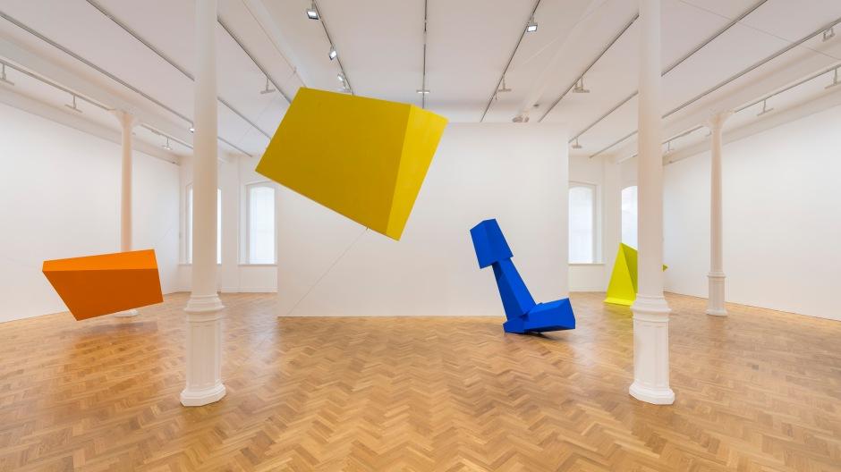 'Joel Shapiro' installed at Pace London, 6 Burlington Gardens, M